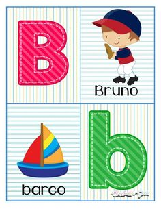 Alphabet cards to learn the letters - Modern School Labels, Alphabet Cards, Pre Kindergarten, Preschool Lessons, Boy First Birthday, Science For Kids, Kids And Parenting, Classroom, Kids Rugs