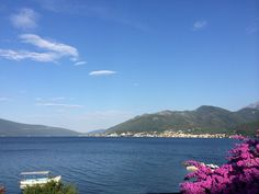 The view from Donka Lastva across the Bay of Kotor Worldwide Travel, Montenegro, Mountains, Bergen
