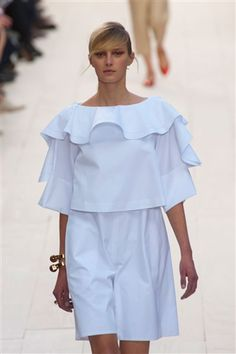 Oversized Ruffles and bermuda shorts by Chloe Spring 2013 fashion trends