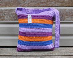 Rainbow Neat Piece Crochet Sling Bag/ Cross Body by CherishInstyle