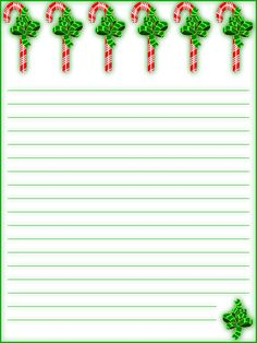 FREE Printable Lined Christmas Stationery - Holiday Money Savers at Kid Scraps Printable Lined Paper, Free Printable Stationery, Stationery Templates, Personalized Stationery, Free Christmas Printables, Free Printables, Ticket Template Free, Holiday Money, Holiday Writing