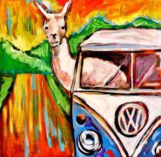 Travel Llama by Kimberly Dawn Clayton Llama Arts, Road Trippin, Dawn, Thoughts, Wall Art, Drawings, Creative, Painting, Travel