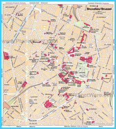 awesome Map of Brussels