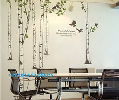 Vinyl Wall Decal Nature Design Tree Wall Decals Wall stickers Nursery wall decal wall art------peaceful forest sur Etsy, $96.08 CAD