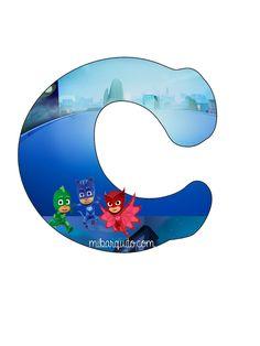 Estas hermosas letras abecedario de PJ Masks son espectaculares! Ideales para aquella decoración tan deseada por los niños a la hora de celebrar su fiesta de cumpleaños, así como para preparar lind…