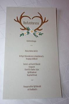 """Das Hochzeitsmenü """"Heimatliebe"""" macht sich super auf der Hochzeitstafel."""