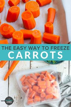 Learning how to freeze carrots is a great way to preserve this essential ingredient that is a staple of so many recipes. A freezer stash of frozen produce opens the door to amazing and speedy meals. Freezing Carrots, Freezing Vegetables, Cooked Carrots, Freezing Tomatoes, Frozen Vegetables, Veggies, How To Freeze Celery, Frozen Potatoes