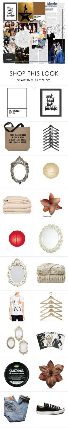 """【 BUT i'VE SEEN WONDERS GREAT AND SMALL 】"" by defying-gravity-xx ❤ liked on Polyvore featuring Americanflat, Chanel, Brahms Mount, Clips, Hamilton, Masquerade, Assouline Publishing, Levi's, Converse and men's fashion"