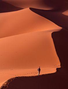 Sand dunes, Sahara desert, Morocco.  Photo:  SirSatellite, via Flickr