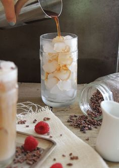 Raspberry iced coffee - Running to the Kitchen