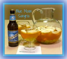 Apples mandarin oranges and Blue Moon Belgian White beer go into this sangria...oh and a little vodka too. It's delicious! www.mantitlement.com