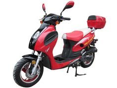 "SCO050 50cc Scooter Automatic Transmission, Front Disc/Rear Drum Brakes, 10"" Wheels $879.00"