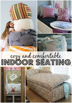 Remodelaholic | 10+ Cozy and Comfortable Indoor Seating Options