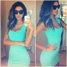 Tight fitting dress this colour
