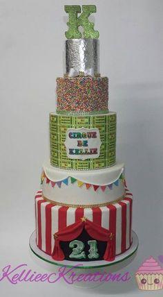 amazing circus-themed cake