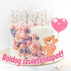 Boldog születésnapot! - Megaport Media Share Pictures, Animated Gifs, Happy Birthday, Birthday Cake, Cake Cookies, Holiday, Diy, Scrapbook, Watch