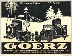 Original-Werbung/ Anzeige 1924 - OPTISCHE ANSTALT GOERZ / BERLIN - ZEHLENDORF - ca. 140 x 110 mm