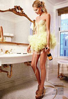Hana Soukupova by Arthur Elgort | Tatler Russia May 2010 | The Plaza Hotel, New York