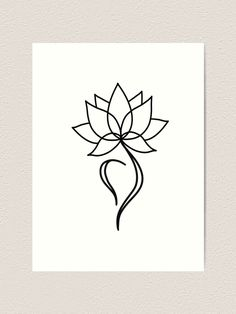 'NEDA Symbol Lotus Flower' Art Print by Margo Shemaria - - Millions of unique designs by independent artists. Find your thing. Lotus Tattoo Design, Small Lotus Tattoo, Lotus Flower Design, Small Flower Tattoos, Flower Tattoo Designs, Small Ankle Tattoos, Lotus Flower Seeds, Lotus Flower Art, Watercolor Flower