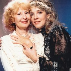 Stevie Nicks with her mom, Barbara.