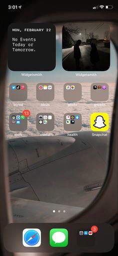 Iphone Layout, Phone Organization, Homescreen, Ios