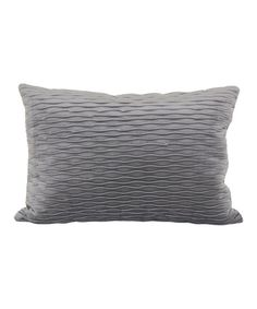 $14 Loving this Gray Ripple Plush Throw Pillow on #zulily! #zulilyfinds