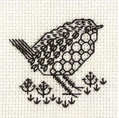 #Blackwork Beautiful bird. Mum?