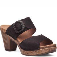Ramona Sandal Black Milled Nubuck