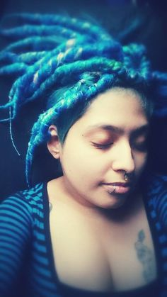 deep blue ocean dreads by Dread Witch