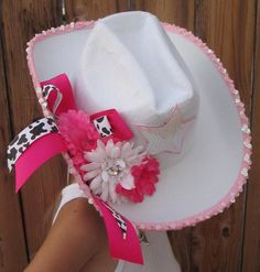 RODEO COWGIRL Hat and Cowgirl Pink Gun Accessories - Halloween Costume Prop - One Size - Toddler to Teen to Adult. $30.00, via Etsy.