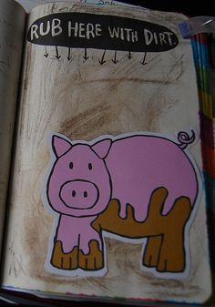 De la boue : c'est à cause du cochon