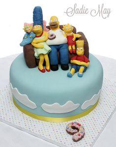 simpsons birthday cake - Buscar con Google