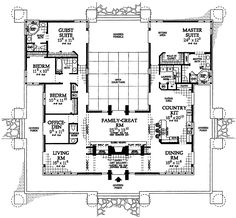 House Plans with Guest Wing | Plan W81313W: Prairie Style House Plans & Home Designs