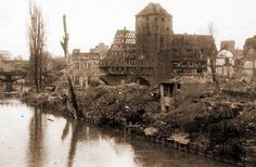 Medieval city of Nürnberg after British bombing - January 1945
