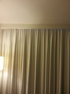 a curtain idea taken from a motel we stayed in