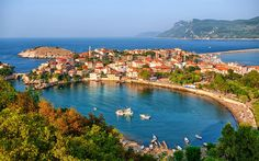 Download wallpapers Amasra, Harbor, Black Sea, Turkey, summer, Turkish cities, resort