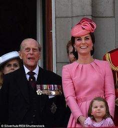 It may have been the Queen's 91st birthday but Kate Middleton and her two young children Prince George and Princess Charlotte were the stars of the show the Buckingham Palace balcony.