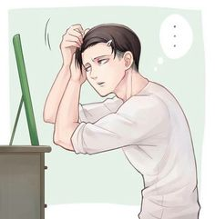 Levi - Don't know what's going on but ok . I love you,Levi Ereri, Levihan, Levi And Erwin, Levi X Eren, Levi Ackerman, Anime Nerd, Anime Manga, Japanese Video Games, Lance Corporal