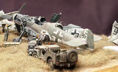 """End of Days"" Luftwaffe Scrapyard Diorama by Kay Koglin (Various 1/48)"
