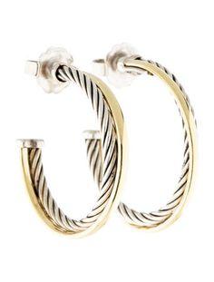 Wear these everywhere. David Yurman Crossover Hoop Earrings