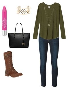 """""""Cute fall outfit"""" by marilynvelazquez on Polyvore featuring Paige Denim, Isadora, Timberland, Michael Kors, Stella & Dot and cute"""