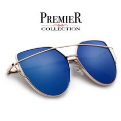 Premier Collection-Elegant Modern 63mm Crossover Browbar Women's Sunglasses