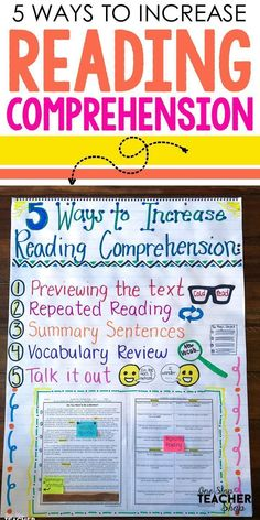 Increase reading comprehension with these 5 reading strategies. These reading strategies will help students better understand a text. Grab the freebie! Reading Comprehension Strategies, Reading Fluency, Vocabulary Strategies, Reading Intervention Strategies, Reading Intervention Classroom, Vocabulary Word Walls, Ielts Reading, Reading Tutoring, Kindergarten Reading