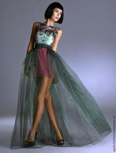 """Платья ручной работы. Ярмарка Мастеров - ручная работа. Купить Вечернее платье """"АгАтА"""". Handmade. Тёмно-зелёный, дизайнерская одежда"""