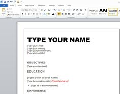 resume templates microsoft word best resume format 2013