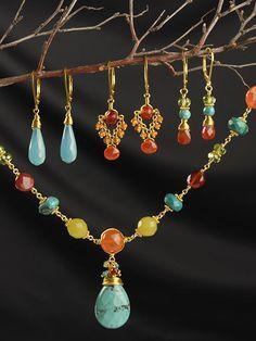 Far Vista Necklace, $120 / Harmony Scott  Coordinating earrings