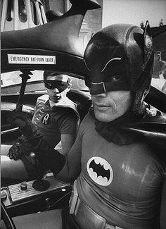Adam West and Burt Ward in the 1960s show Batman