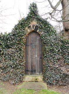 vwcampervan-aldridge:    Ornate Ivy overgrown gate atNewsteadAbbey. Nottinghamshire, England.