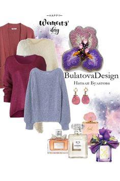 Beaded brooch. Hand made. Bulatova Design от BulatDesign - trendme.net Beaded Brooch, Crochet Hats, Handmade, Image, Collection, Design, Fashion, Knitting Hats, Moda