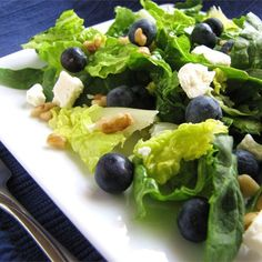"Blueberry Walnut Salad I ""I have made this salad for two dinner parties and all have loved it!!!! It is very easy to put together. You can use raspberry and walnut vinaigrette as well."""